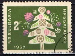 BULGARIA - 1966 - ALBERO DI NATALE - AUGURI PER IL NUOVO ANNO - USATO - Gebraucht