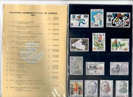 SPAGNA 1981 - EMISSIONI COMMEMORATIVE DELL'ANNO IN CONFEZIONE ORIGINALE - MNH/** - 1981-90 Nuovi