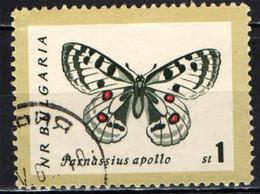 BULGARIA - 1962 - FARFALLA: PARANSSIUS APOLLO - USATO - Gebraucht