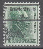 USA Precancel Vorausentwertungen Preos, Locals Iowa, Crawfordsville 848 - Precancels