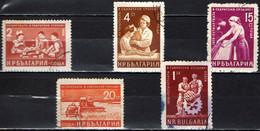 BULGARIA - 1959 - IL LAVORO IN BULGARIA - PIANO DI SVILUPPO QUINQUENNALE - USATI - Gebraucht
