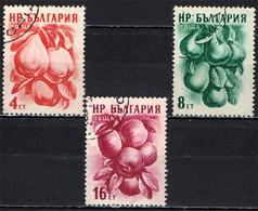 BULGARIA - 1956 - FRUTTA: MELE COTOGNE - PERE - MELE - FRUITS - USATI - Gebraucht