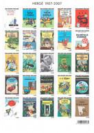 BLOC BELGE AVEC LES COUVERTURES DES ALBUMS TINTIN ; Neuf. - Comics