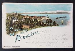 Litho Souvenir De Neuchatel, Neuenburg, Gelaufen 1902 - NE Neuchatel