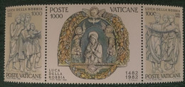 1982 - Vaticano - 5° Centenario  Dalla Morte Di Luca Della Robbia - Blocco Di Tre Valori - Nuovi - Nuovi