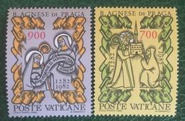 1982 - Vaticano - 700 Anni Dalla Morte Di Beata Agnese Di Praga  - Serie Due Valori - Nuovi - Nuovi