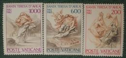 1982 - Vaticano - Santa Teresa D'Avila - Serie Tre Valori - Nuovi - Nuovi
