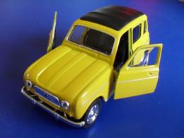 Voiture Miniature Collection Welly ,1/39 - 1/43, Métal, Renault 4l Décapotable , 11 Cm Emballée - Other