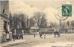 CPA Crosne Place Boileau - Crosnes (Crosne)