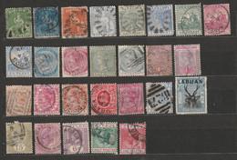 Britische Kolonien Barbados Jamaica Mauritius Alte Briefmarken Aus Französischem Alten Album Timbres - Poste - Collections