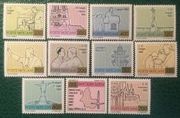 1981 - Vaticano - I Viaggi Di Papa Giovanni Paolo II Nel Mondo - Serie 11 Valori - Nuovi - Nuovi