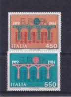 ITALIA REPUBBLICA 1984 EUROPA SASSONE S.409  MNH PERFETTI - 1981-90:  Nuovi