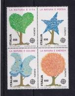 ITALIA REPUBBLICA 1986 EUROPA SASSONE S.428 BLOCCO DI 4   MNH PERFETTI - 1981-90:  Nuovi