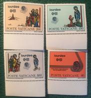 1981 - Vaticano - Lourdes - Serie Quattro Valori - Nuovi - Nuovi