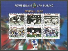 SAN MARINO 2002 WORLD CUP FOOTBALL JAPAN & KOREA ITALIAN TEAMS M/SHEET MNH - Neufs