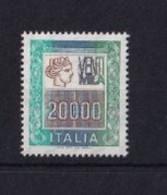 ITALIA REPUBBLICA 1987 ALTI VALORI L.20.000 SASSONE S.1442B  MNH PERFETTO - 1981-90:  Nuovi