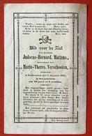 Anno 1855 - Doodsprentje Décés - GRAVURE - MATTENS VERSCHOOTEN Dendermonde - 12 Cm X 7.5 Cm - Devotieprenten