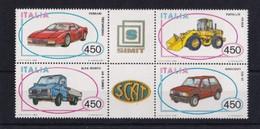 ITALIA REPUBBLICA 1986 AUTO SASSONE S.430 BLOCCO DI 4  CON APPENDICI CENTRALI MNH PERFETTO - 1981-90:  Nuovi