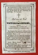 Anno 1853 - Doodsprentje Décés - GRAVURE - LIPPENS Sleydinge Sleidinge - 10 Cm X 7 Cm - Devotieprenten