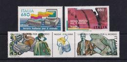 ITALIA REPUBBLICA 1986 LAVORO ITALIANO NEL MONDO  SASSONE S.431  MNH PERFETTI - 1981-90:  Nuovi