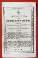 Anno 1842 - Doodsprentje Décés - GRAVURE - MOENS Mariakerke - 11 Cm X 7 Cm - Devotieprenten