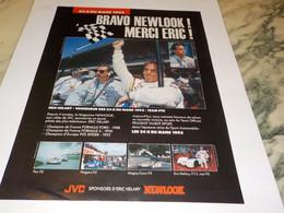 ANCIENNE PUBLICITE  ERIC HELARY BRAVO NEWLOOCK 1993 - Altri