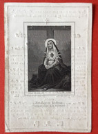 Anno 1842 - Doodsprentje Décés - VAN CROMBRUGGHE SPITAELS VAN YPERSELE Geeraardsbergen 10 Cm X 6.5 Cm - Devotieprenten
