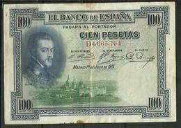 ESPAÑA - BILLETE DE 100 PESETAS DE 1925 - 100 Pesetas