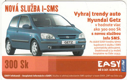 SLOVAKIA - Hyundai Getz, Eurotel Prepaid Card 300 Sk, Used - Automobili
