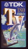 VHS - Cassette Vierge PAL/Secam - TDK TV 180 3 Heures (emballage Scéllé) - Televisione