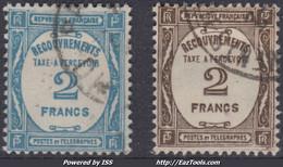 FRANCE : TAXE A PERCEVOIR N° 61/62 OBLITERATIONS CHOISIES - 1859-1955 Used