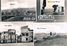 B4902 - Saluti Da Villalba, 4 Vedute, Viaggiata 1962 F. G. - Caltanissetta