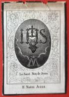 Anno 1843 - Doodsprentje Décés - LITHO - Heelmeester Fac. Gent BATTHEUS Geeraardsbergen - 10.5 Cm X 7 Cm - Devotieprenten