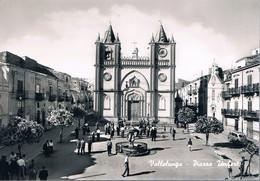 B4908 - Vallelunga, Piazza Umberto, Viaggiata 1962 F. G. - Caltanissetta