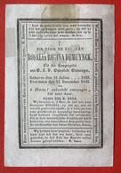 Anno 1843 - Doodsprentje Décés - LITHO - DEMUYNCK - 11 Cm X 7.5 Cm - Devotieprenten