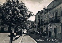 B4909 - Vallelunga, Corso Garibaldi, Viaggiata 195? F. G. - Caltanissetta
