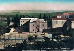 B4914 - San Cataldo, Casa Lavoratrice, Primi Colori, Viaggiata 1958 F. G. Francobollo Asportato - Caltanissetta