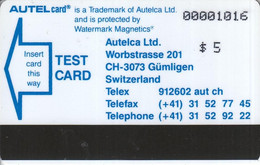 Autelcard Test Card Blue Card - [3] Magnetic Cards