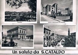 B4915 - Un Saluto Da San Cataldo, 4 Vedute, Viaggiata 1955 F. G. - Caltanissetta