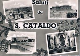 B4916 - Saluti Da San Cataldo, 4 Vedute, Viaggiata 1952 F. G. - Caltanissetta