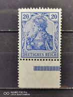 Deutsche Reich Mi-Nr. 87 L A MNH Postfrisch Unterrand Geprüft 75€ + € - Ungebraucht