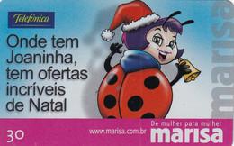 BRAZIL(Telefonica) - Christmas, Marisa, 11/01, Used - Natale