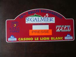 16ème Rallye Baldomérien - ST-GALMIER -asf-asac Forez - Casino Le Lion Blanc - Coupe De France Des Rallyes -FFSAI - Targhe Rallye