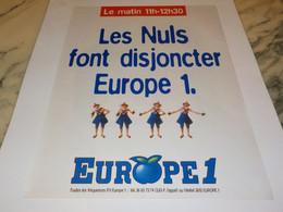 ANCIENNE PUBLICITE LES NULS SUR EUROPE 1 1995 - Sport Invernali