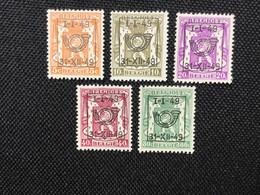 PRE589/593**.Série 5 Valeurs.MNH. - Typos 1936-51 (Kleines Siegel)
