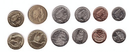 New Zealand - Set 6 Coins 5 10 20 50 Cents 1 2 Dollars 2000 - 2010 UNC Lemberg-Zp - Nuova Zelanda
