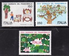 ITALIA REPUBBLICA ITALY REPUBLIC 1982 GIORNATA DEL FRANCOBOLLO STAMP DAY SERIE COMPLETA COMPLETE SET MNH - 1981-90:  Nuovi