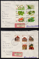 RDA - DDR / 1978  - 2 LETTRES RECOMMANDEES POUR COLMAR (ref 6787) - Briefe U. Dokumente