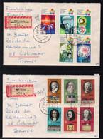 RDA - DDR / 1973  - 2 LETTRES RECOMMANDEES POUR COLMAR (ref 7378) - Briefe U. Dokumente