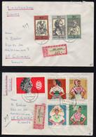 RDA - DDR / 1971  - 2 LETTRES RECOMMANDEES POUR COLMAR (ref 7618) - Briefe U. Dokumente